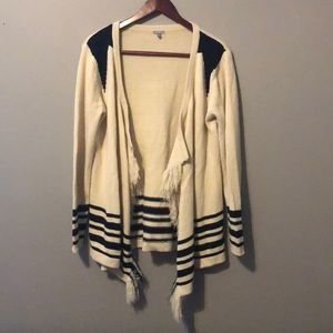 Black and cream patterned cardigan